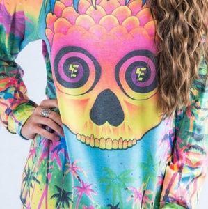 aa2c33df5eb01 Electro Threads Pineapple Daze Vintage Sweatshirt